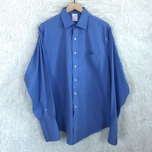 French Cuff Dress Shirt Blue Brooks Brothers